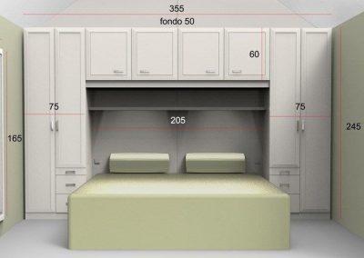 Projecte per a dormitori amb mides dels mobles.